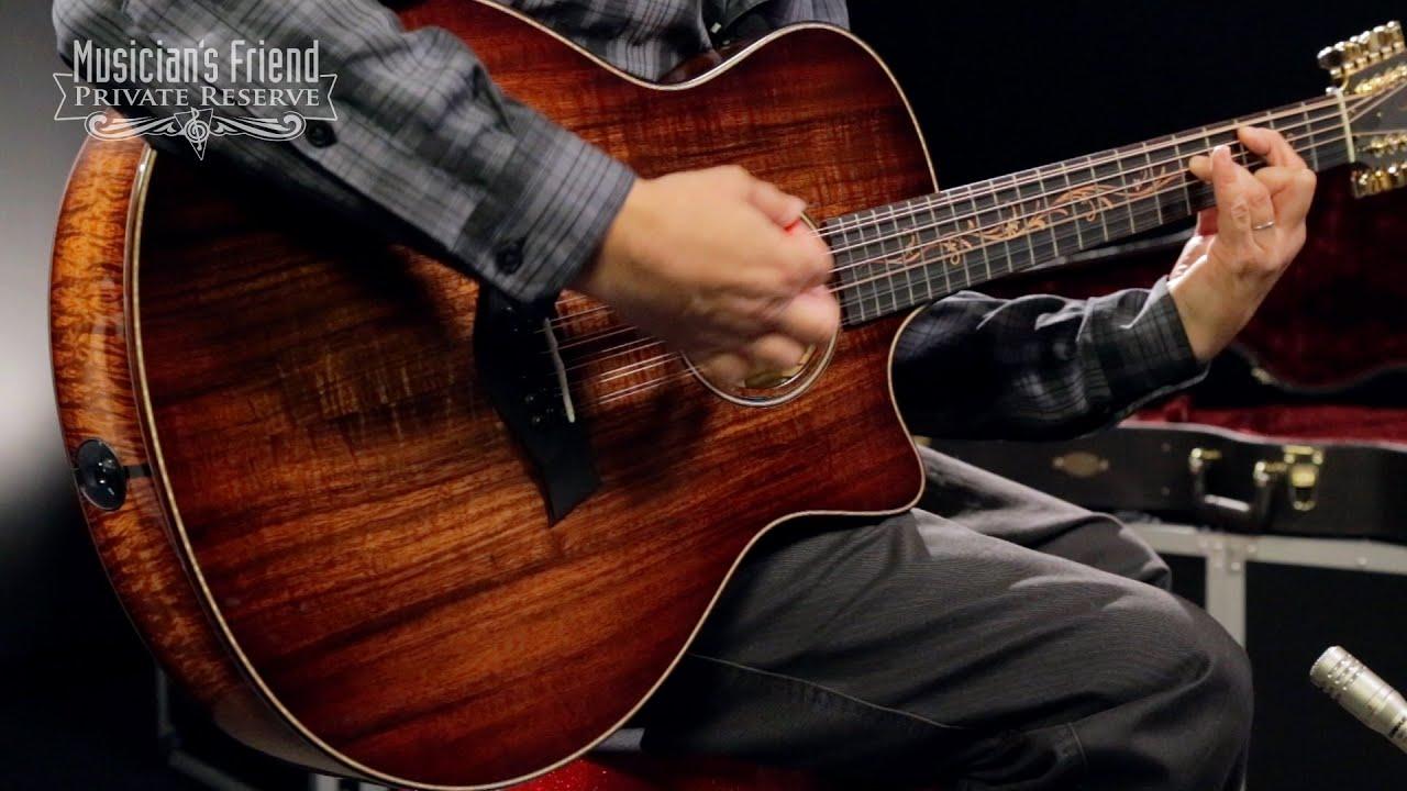 taylor k66ce 12 string grand symphony cutaway es2 acoustic electric guitar youtube. Black Bedroom Furniture Sets. Home Design Ideas