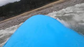 만리포 서핑, 바람 강한 날, 파도를 타러 데크 앞으로…