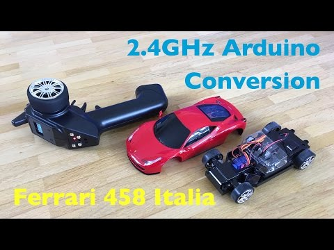 XQ-Toys 1:24 Ferrari 458 Italia Arduino 2.4GHz Remote Conversion