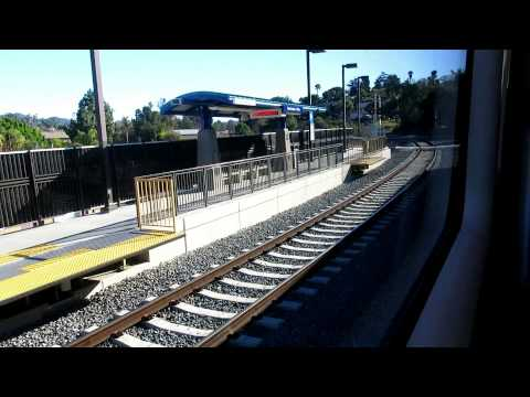 NCTD Sprinter train ride from Oceanside to Escondido Transit Center.