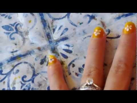 Floral Nail Design in Bali