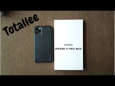 Totallee IPhone 11 Pro Max Leather And Clear Case