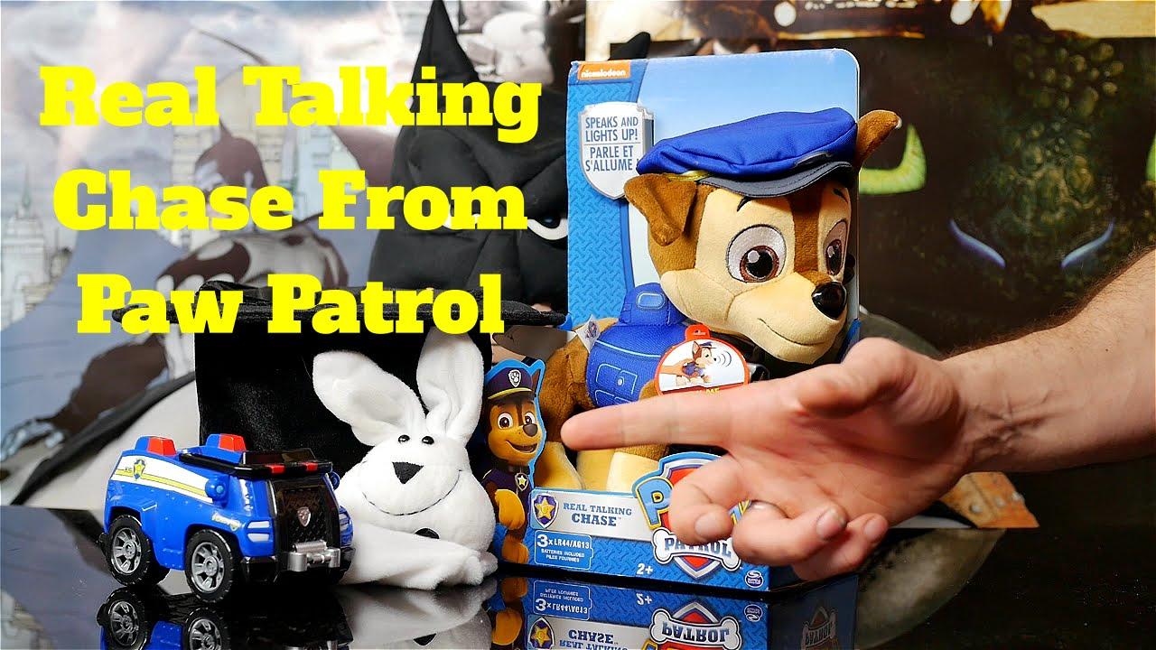 Paw Patrol Real Talking Chase Plush Toy