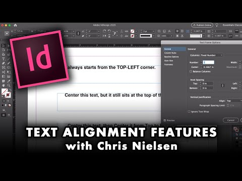 Dealing With Text Alignment In InDesign