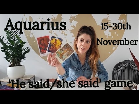 AQUARIUS - ' LOVE ME RIGHT OR DON'T LOVE ME AT ALL' 15-30th November Love Tarot Reading