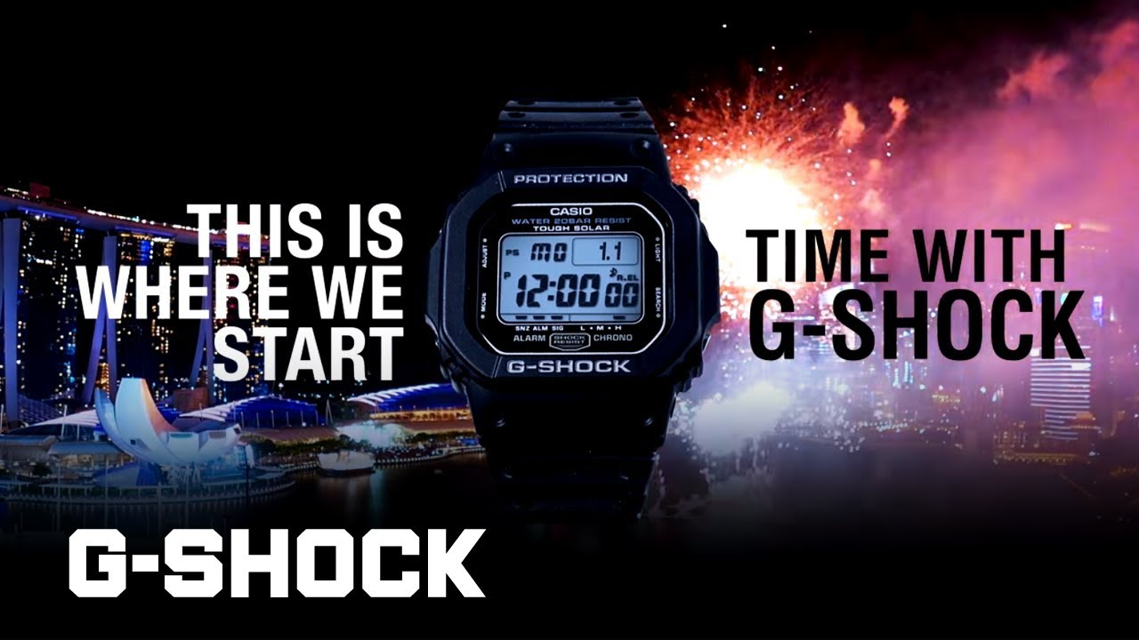 how to set the time in g shock