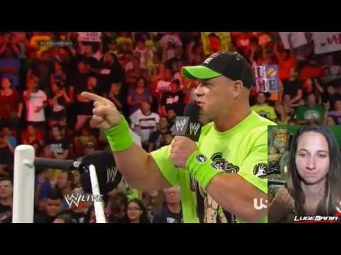 WWE Raw 7/28/14 John Cena Gets SERIOUS with Heyman about LESNAR Live Commentary