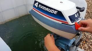 Teste de moteur evinrude 4 cv