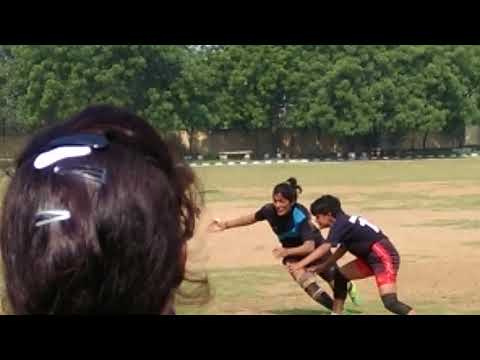 Girl Rugby Team Match Delhi vs Haryana