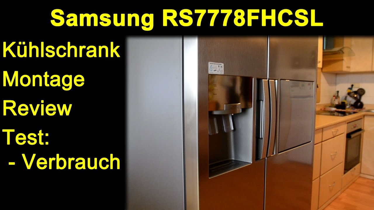samsung rs7778fhcsl side by side k hlschrank montage. Black Bedroom Furniture Sets. Home Design Ideas