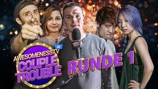 Runde 1:  Ninja Battle | Gong Bao & Kiko VS Kurono & Jen  | COUPLE TROUBLE mit Aaron Troschke (1/4)