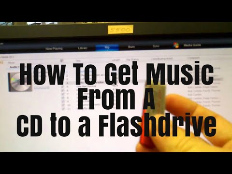 How to get your music from your CD to a Flash Drive with Windows 10 and Media Player 12