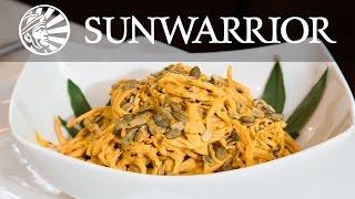 Raw Vegan Pumpkin Alfredo Pasta | Jason Wrobel