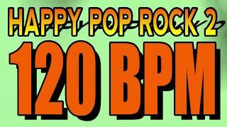120 BPM - Happy Pop Rock 2 - 4/4 Drum Track - Metronome - Drum Beat