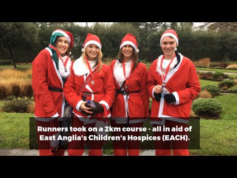 EACH Santa Fun Run held in Eaton Park, Norwich