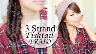 Three (3) Strand Fishtail Braid Hair Tutorial | Hairstyle Thumbnail