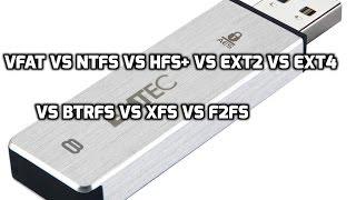 File-System Benchmarks on USB Flash: VFAT vs NTFS vs HFS+ vs Ext2 vs Ext4 vs F2FS vs Btrfs vs XFS