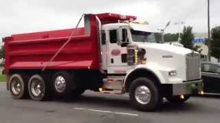 2 Kenworth T800 dump trucks jake brake