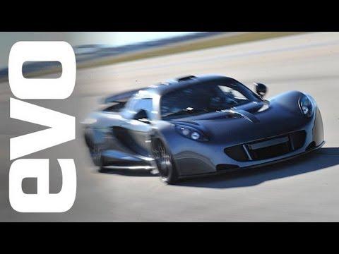 Hennessey Venom GT Guinness World Record 0-300kph run | evo TV