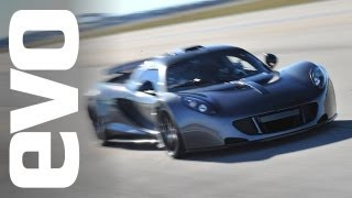 Hennessey Venom GT Guinness World Record 0-300kph run | evo TV