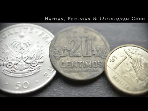 Few Uruguayan , Peruvian & Haitian Coins and Value | Uruguay | Peru | Haiti