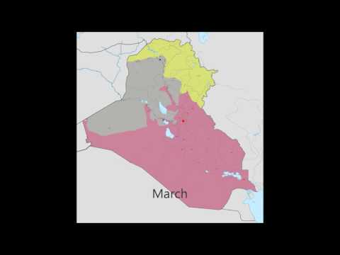 Rise and Decline of ISIS in Iraq Map June 2014-July 2016
