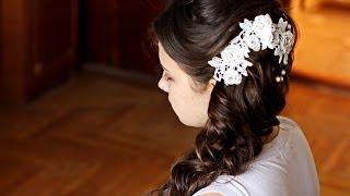 Прическа на выпускной на длинные волосы. Свадебная прическа. Prom wedding hairstyle.Hair tutorial(Канал с прическами https://www.youtube.com/user/sniganka музыка http://audionautix.com прическа на выпускной,как сделать прическу..., 2014-04-27T13:19:01.000Z)