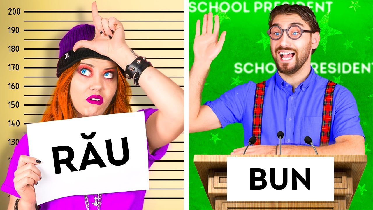 ELEVUL BUN vs. ELEVUL RĂU   Situații amuzante, în care te regăsești, musical marca Lumea La La