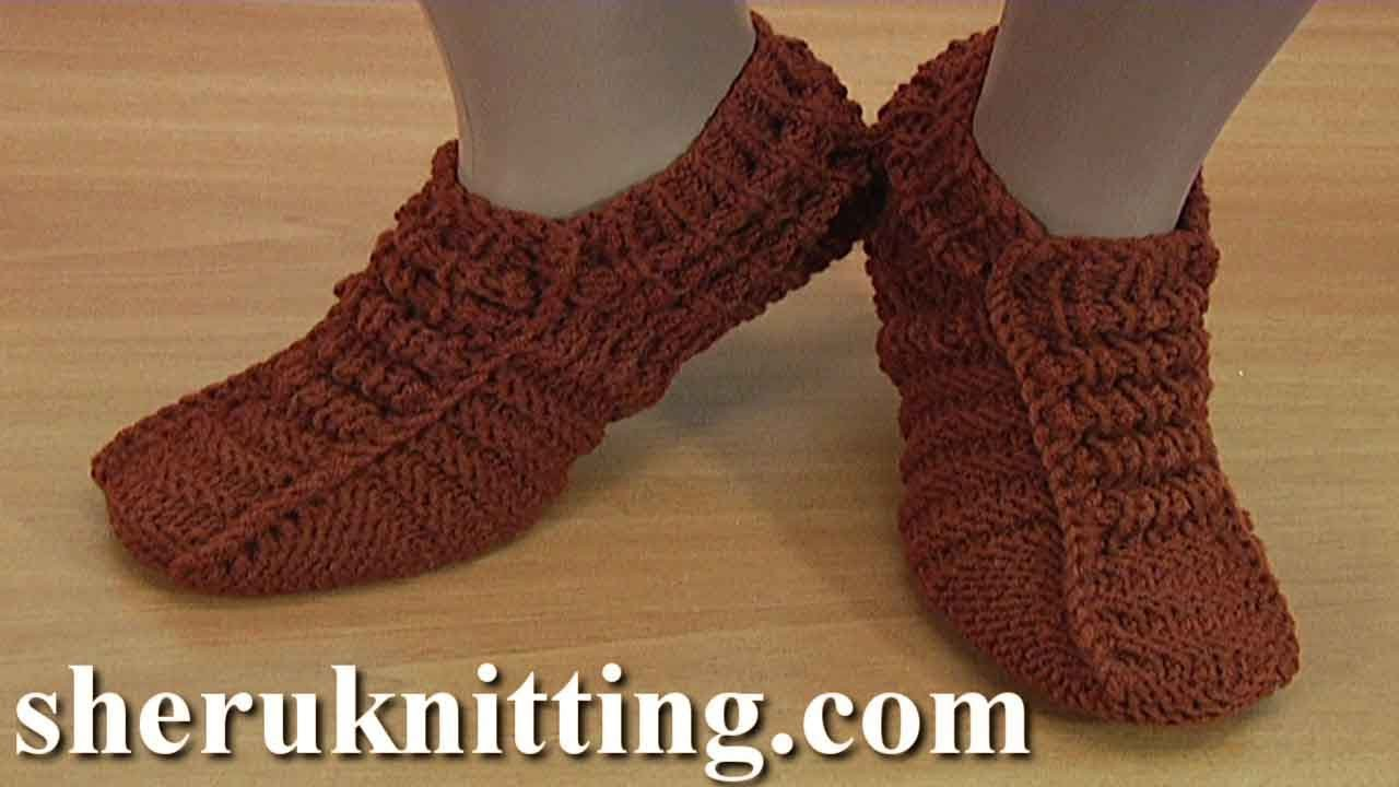 Knitting Socks Tutorial : Knitted rolled stitch pattern socks tutorial youtube