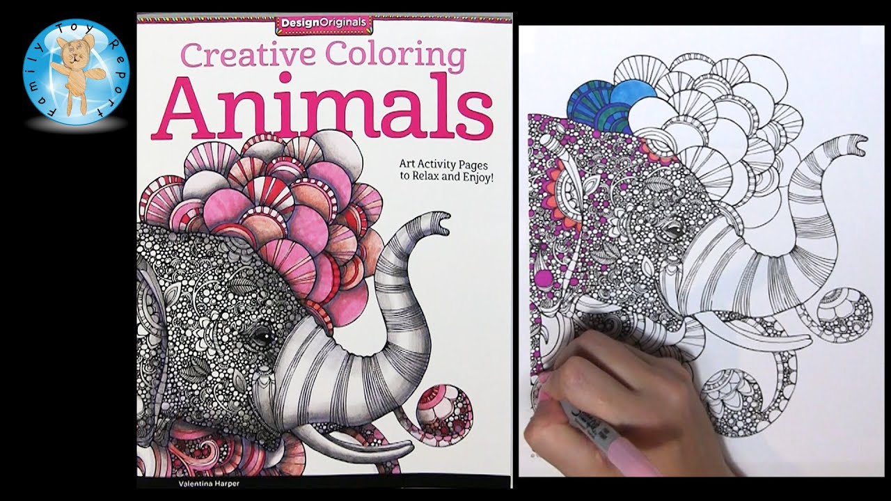 Design Originals Creative Coloring Animals Adult Coloring Book Review Elephant Family Toy Report