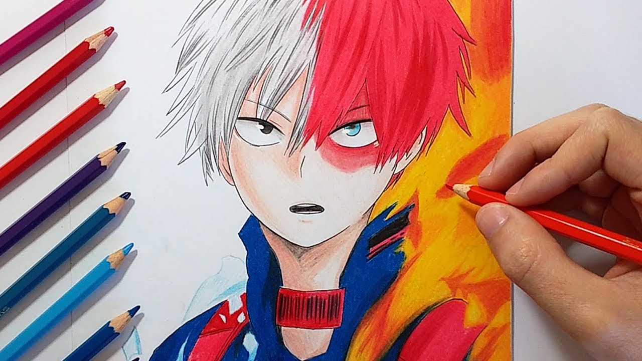 how to draw anime fire