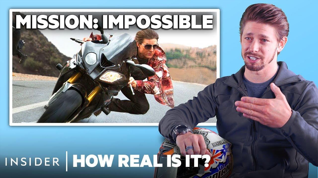 Motorbike Champion Rates 10 Motorcycle Stunts In Movies