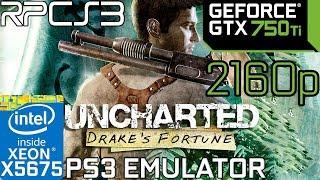 Uncharted drakes fortune rpcs3 vulkan gtx 750 ti xeon x5675 11gb ram