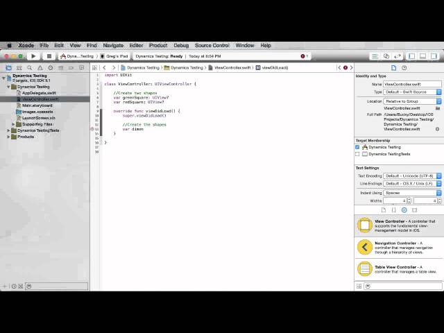 iOS Development with Swift Tutorial - 28 - UIKit Dynamics