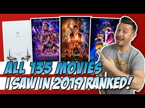All 135 New Movies I Saw In 2019 Ranked!  LIVE!!!