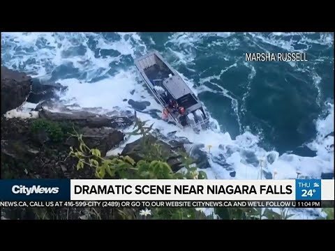 Tourists witness dramatic rescue at Niagara Falls