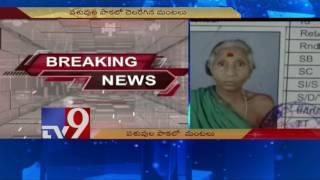Fire in cattle house,woman burnt alive in Vizianagaram - TV9