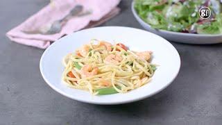 How to make prawn linguine - BBC Good Food