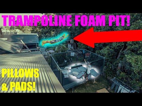 AMAZING PILLOW FOAM PIT SETUP!