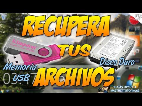 Como Recuperar Archivos ELIMINADOS - Memoria USB - Disco Duros - Memorial SD