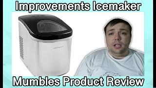 Improvements Compact Stainless Steel Ice Maker Review with Demo - MumblesVideos Product Review