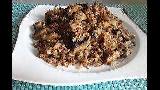 Гречка. Каша гречневая / Как вкусно приготовить гречку с грибами