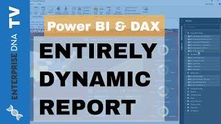 إنشاء تماما ديناميكية التقرير في السلطة ثنائية متقدمة تقنية التصور