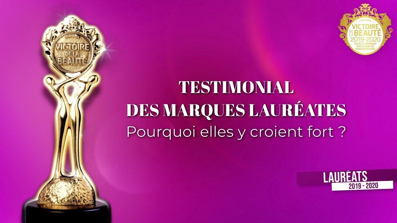 Testimonial des marques lauréates (Victoires de la Beauté 2019/2020)