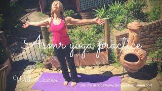 ASMR yoga practice for wellness