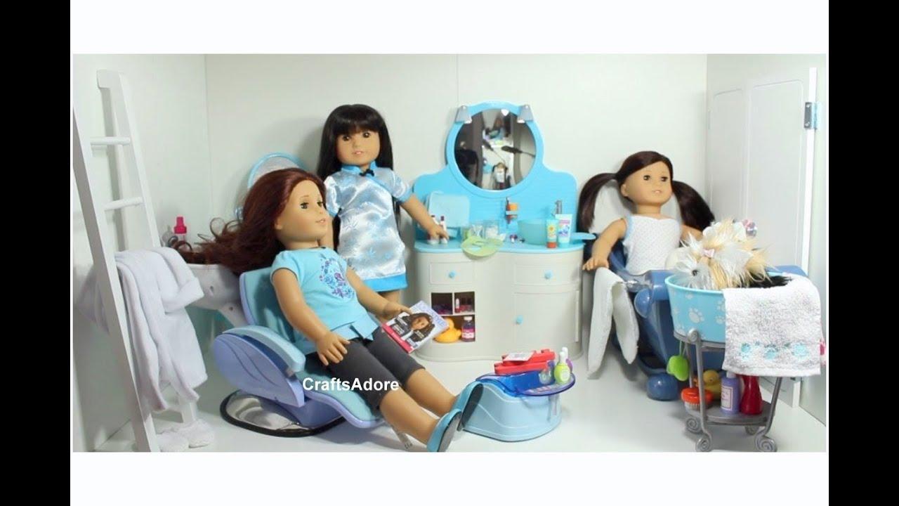 american girl doll house tour the spa bathroom hd