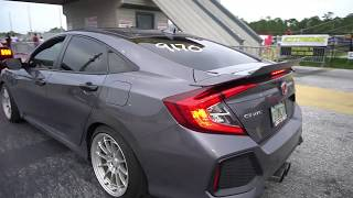 2019 Civic si turbo 1.5 vs Turbo EK Civic - drag race 1/4 mile
