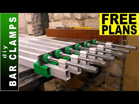 Bar Clamps DIY - Making six Long Bar Clamps - [PLANS]