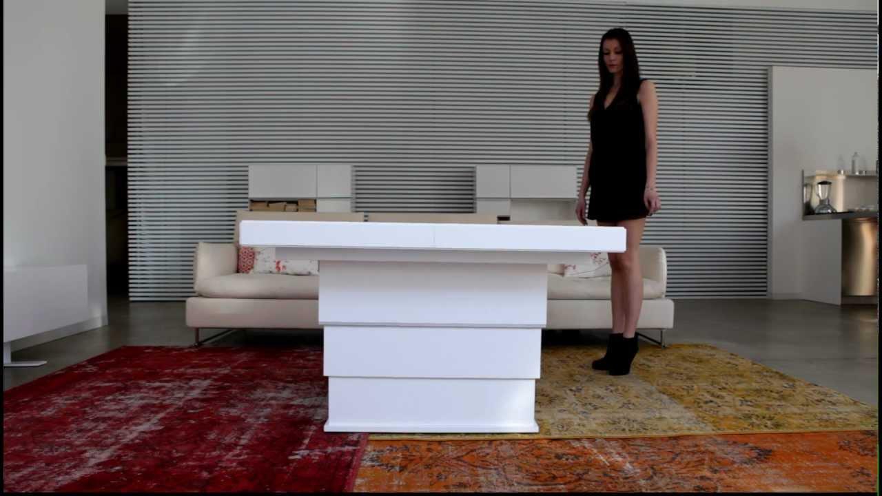 Tavolini Da Salotto Che Si Alzano.Tavolino Trasformabile Youtube