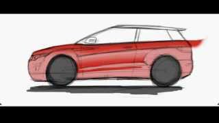 Land Rover North - How to draw a Range Rover Evoque
